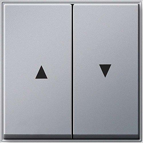 Gira Serienwippe 029465 + Pfeilsymbol TX_44 (WG UP) Alu, Aluminium