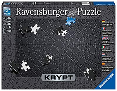"Ravensburger Krypt Black 15260 736 Piece Puzzle for Adults, Every Piece is Unique, Softclick Technology Means Pieces Fit Together Perfectly,27"" x 20"" from Ravensburger"