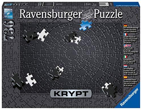 Ravensburger- Krypt Monocromo a Spirale, 736 Pezzi Premium Puzzle con Tecnologia Softclick, età Consigliata 14 +, Colore, 15260 5