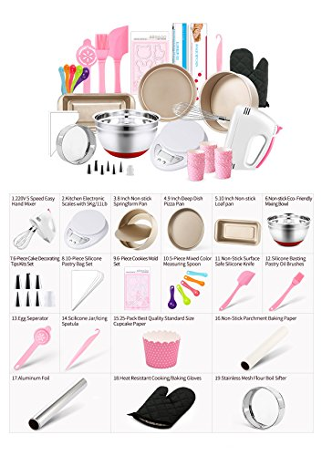 MCK Complete Cake Baking Set Bakery Tools for Beginner Adults Baking sheets bakeware sets baking tools