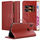 Cadorabo Book Case works with HTC Desire 10 PRO in WINE RED