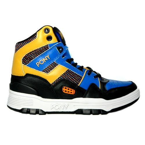 Pony - M100 - Basketball - High Top - Sneaker - blue / black / amber-40