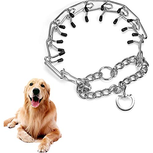 Heroicn Dog Prong Training Collar Adjustable Stainless Steel Links with...