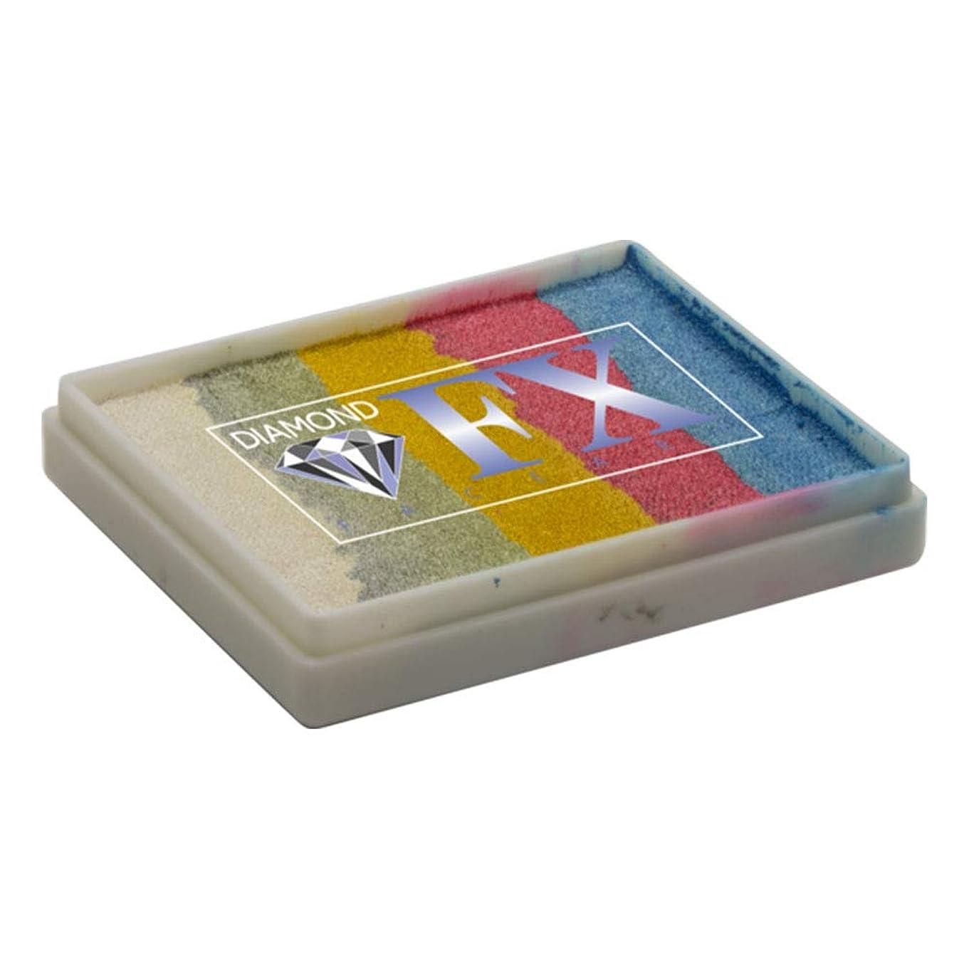 テクニカル取り囲む良心的ダイアモンドFXスプリットのケーキ - デイブレイクRS50-26、プロ品質のフェイスレインボーケーキ、水の活性化フェイスペイント、1.76オンス/ 50グラム絵画