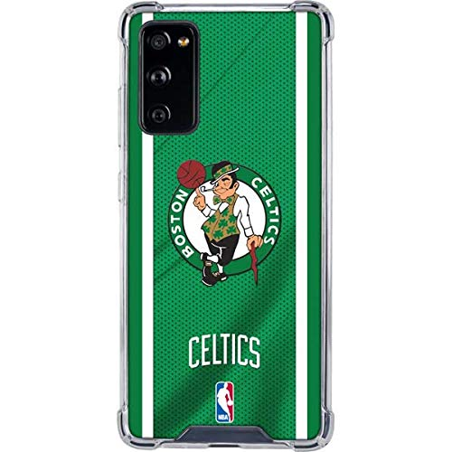 Skinit Clear Phone Case Compatible with Galaxy S20 FE - Officially Licensed NBA Boston Celtics Design
