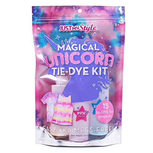 Just My Style Magical Unicorn TieDye by Kit Horizon Group USACreate 15 DIY Tie Dye ProjectsKit Includes GlovesColor Mixing Bottles ColorsRubber Bands  One Iron On UnicornPinkYellowBlue