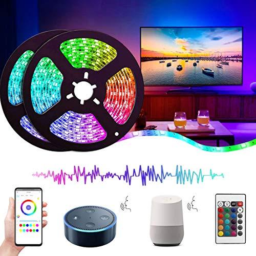 Luces LED Wifi Alexa 10M (2×5M), Tira Regulable 300 LEDs, 16...