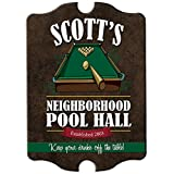 Personalized Pool Hall/Game Room Wood Man Cave Sign, Home Bar, Room Décor, Game Room Décor, Wall Art