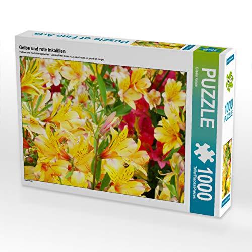 CALVENDO Puzzle Gelbe und rote Inkalilien 1000 Teile Lege-Größe 64 x 48 cm Foto-Puzzle Bild von Gisela Kruse