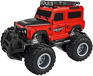 Pandao Coche de Juguete RC Car Mini Control Remoto Coche Vehículo Radio RC SUV Coche Drift Racing Car 1:43 Vehículo Todoterreno de Alta Velocidad Jeep Coche Juguetes para niños Rojo