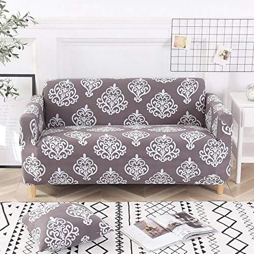 Funda de sofá gris Fundas de muebles elásticas Fundas de sofá elásticas para sala de estar Funda de asiento con funda deslizante Funda de asiento de spandex sofá 1-4 plazas, color 24,4-Seater (235-30