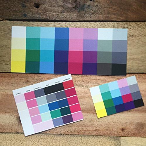 Set Großer und kleiner Farbpass, Make-Up-Pass Winter, Wintertyp, Farbkarte, Winterfarben Wintertyp,kalter Farbtyp, Farbfächer, Farbberatung, Typberatung, Farbkarten, Farbpalette