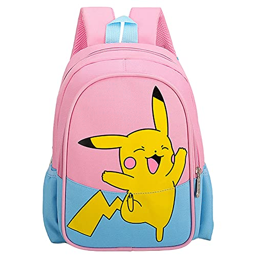Hilloly Pikachu Kids Mochila, Pikachu Mochila de Viaje, Pokemon Mochila Ligera para Niños para Estudiantes de Primaria Infantil para Colegio Viajes, Regalos para Niñas y Niño