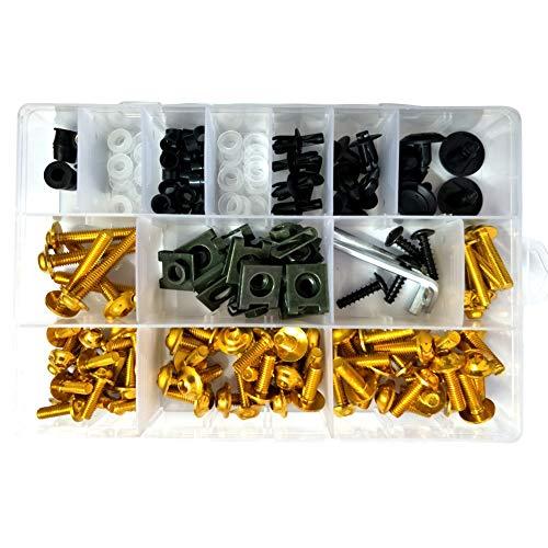 Verkleidungsschrauben-Set, tragbares Verkleidung, Universalschrauben-Set, buntes Motorrad-Zubehör, Ersatz-Verkleidungsschrauben-Set
