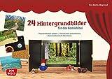 24 Hintergrundbilder für das Kamishibai: Figurentheater spielen – Geschichten präsentieren – Jahreszeitentisch dekorieren (Zubehör für das Erzähltheater Kamishibai) - Eva-Maria Maywald