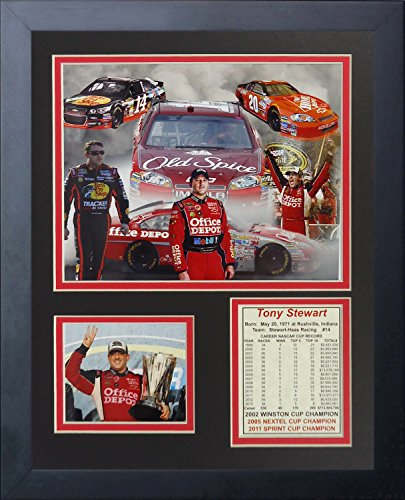 Tony Stewart NASCAR Auto Racing Framed 8x10 Photograph Collage