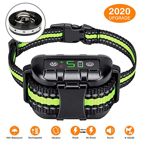Flittor Bark Collar, No Bark Collar Rechargeable with Beep, Anti bark Collar with Adjustable Sensitivity and Intensity Beep Vibration No Harm Shock...