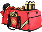 Innovatex 3XL Firefighter Duffle Bag, Red - Large Storage Pockets for Turnout Gear, Store SCBA Masks, Gloves, Helmet, Jumpsuits and Rescue Gear - Quick Access Compartments
