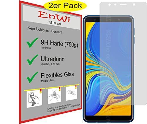 EnWi | 2X Panzer-Glas-Folie 9H Bildschirm-Schutz-Folie für Samsung Galaxy A7 2018 for SM-A750fzbudbt