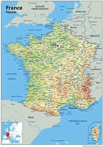 LYWUSUZE Puzzle en Bois 1000 Pièces Carte de France Cadeau Unique Créatif Jeu Personnalisé Adultes Enfants Jouets Éducatifs 75X50Cm