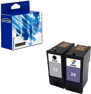 ESTON Combo Set for Lexmark Ink Cartridges 23 24 Black/Color (2Pack) Fit for Lexmark Printer X3430 X3530 X4530 X4550