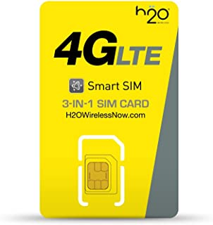 h2o Smart SIM Starter Kit 3-in-1 GSM SIM Card