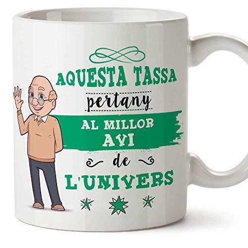 """MUGFFINS Taza Abuelo (En Catalán) -""""Aquesta Tassa Pertany al Millor Avi de l"""