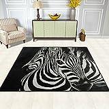 ZZKKO Teppich für Wohn-/Schlafzimmer, Zebra-Motiv, multi, 4'x5'(120x160 cm) - 4