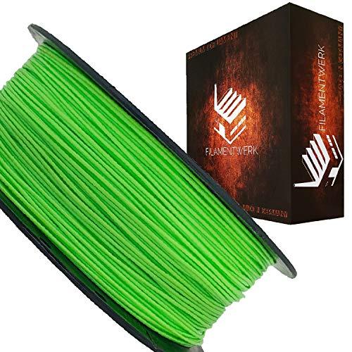 Filamentwerk 3D-Drucker PET-G 1,75mm 1kg Spule Rolle (Neon Grün)