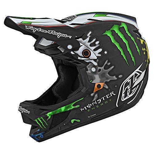 Troy Lee Designs Limited Edition Adult | BMX | Downhill | Mountain Bike D4 Carbon Monster Zink Helmet (Black, Medium)