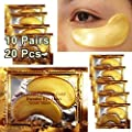 10 x Collagen Gold Eye Pad Crystal Collagen 24k Gold Under Eye Gel Mask Anti Aging Wrinkle Remover Patch
