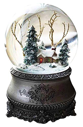 Wichtelstube-Kollektion LED Schneekugel Winterwald elektr. Schneewirbel, viele Melodien und Farbwechsel Vintage - jetzt bei Amazon bestellen