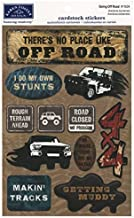 KAREN FOSTER Design Acid and Lignin Free Scrapbooking Sticker Sheet, Going Off Road