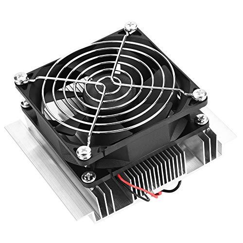 CUYT Enfriador termoeléctrico, Ventilador termoeléctrico, Mini Aire Acondicionado Profesional de 12 V DIY para Nevera pequeña