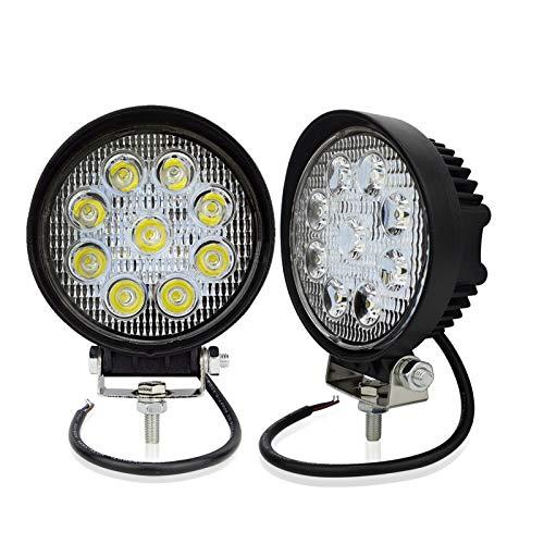 Safego 2 x 4inch Arbeitslicht 27W LED Scheinwerfer Auto Arbeitsscheinwerfer bar Offroad Zusatzscheinwerfer (30-Grad) 27W Spotlight Reflektor Car LED Work Light Auto Arbeitsleuchte Offroad 12V 24V