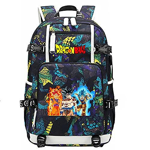 ZZGOO-LL Dragon Ball Son Goku/Torankusu Bolsa de Hombro Mochila para Exteriores para un montón de Almacenamiento Bolsa USB Unisex-D
