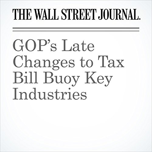GOP's Late Changes to Tax Bill Buoy Key Industries copertina