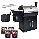 NON WIFI Grilla Grills - Silverbac Alpha Model Bundle | Multi Purpose Smoker and BBQ Wood Pellet Grill with Dual Mode PID Controller | Stainless Steel Construction | Up to 900 Sq. in Cooking Space