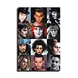 Johnny Depp Canvas Art Poster and Wall Art Picture Print Modern Family Bedroom Decor Posters