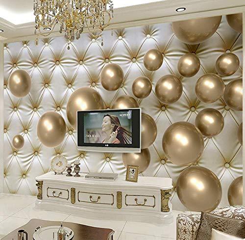 Muurschilderingen op maat 3D foto Golden Pearl Luxe Zachte Kast Slaapkamer TV Muur Hotel KTV Cafe 250(w)x175(H)cm
