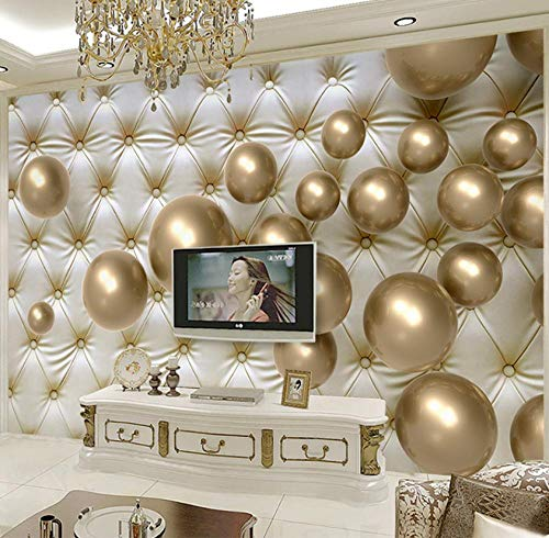 Wallpaper personaliseerbaar 3D Foto Gold Parel luxe beschermhoes zacht slaapkamer TV muur Hotel Café 400(w)x280(H)cm