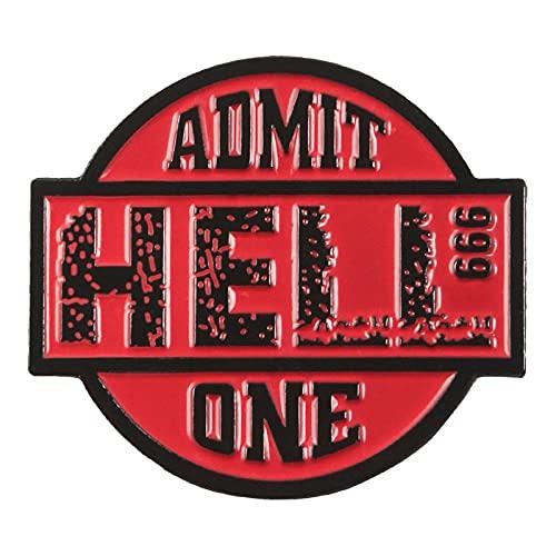 Alfileres esmaltados Cinema Hell Admit One Badges Broches Bolsa Ropa Pin de...