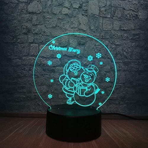3D LED nachtlampje Vrolijk Nieuwjaar kerstcadeau Kerstman 7 kleuren veranderende bureau tafellamp elegante meisje kamer decoratie vrolijk geschenken speelgoed decor kast kast