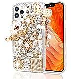 Semdisan Compatible con iPhone 12 Pro Max, iPhone 12 Pro Max 6.7 pulgadas (versión 2020), hecho a mano con diamantes brillantes
