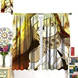 DRAGON VINES Fire Force Iris Anime PosterImpermeable Cortina Residencial, Oficina, Decoración de la Habitación214 x 214 cm