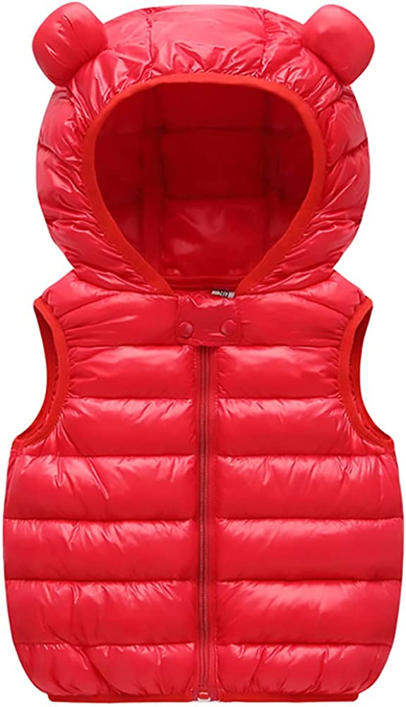 AIWUHE Baby Boys Girls Hooded Ranking TOP19 Our shop most popular Lightweight Puffer Winter Vest Sle
