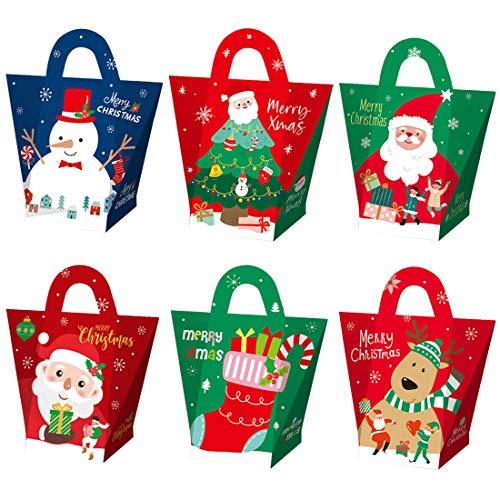 Cajas de Navidad,12pcs Cajas de Navidad para Decoración de Fiestas de Niños, Cajas de Regalo, Cajas de Regalo para Mesa de Navidad, Cajas Pequeñas para Dulces, Caramelos, Chocolates, Galletas