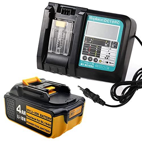 Batería de repuesto para Makita BL1850 BL1840 BL1830 LXT400 con cargador de 3 A con pantalla LED DC18RA DC18RC 3A 10,8 V ~ 18 V