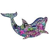 Yarmy Rompecabezas De Forma única Rompecabezas De Madera,Puzzle Animales para Adultos Y Niños Ideal para La Colección De Juegos Familiares(Delfín)