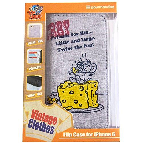 グルマンディーズ トム&ジェリー iPhone6対応 スウェットフリップケース チーズ TMJ-13A